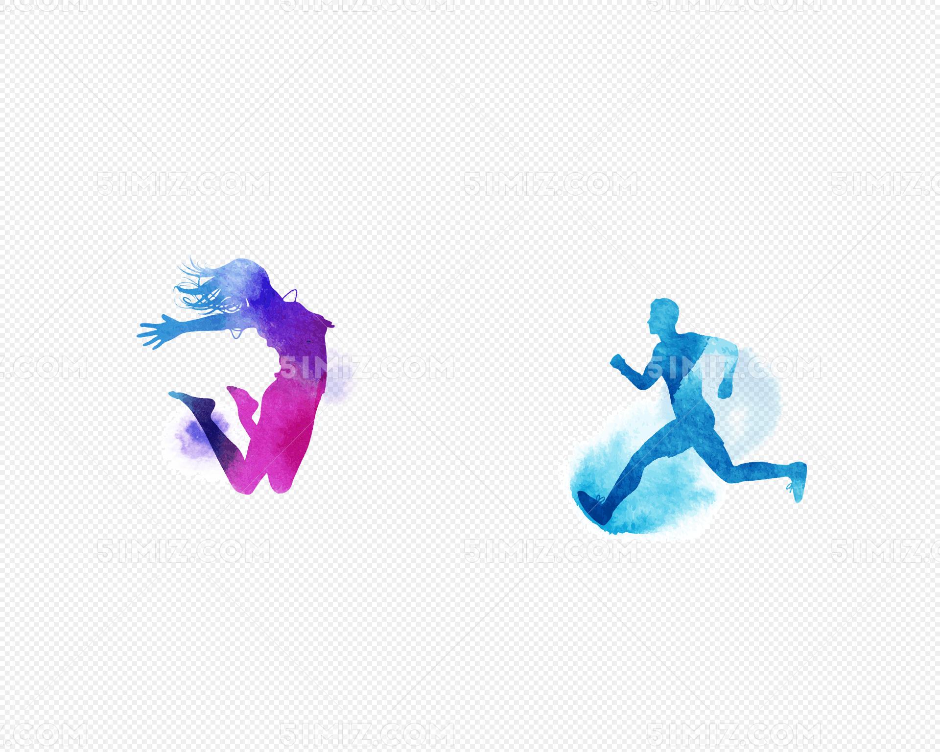 奔跑跳跃运动人免费下载_png素材_觅知网
