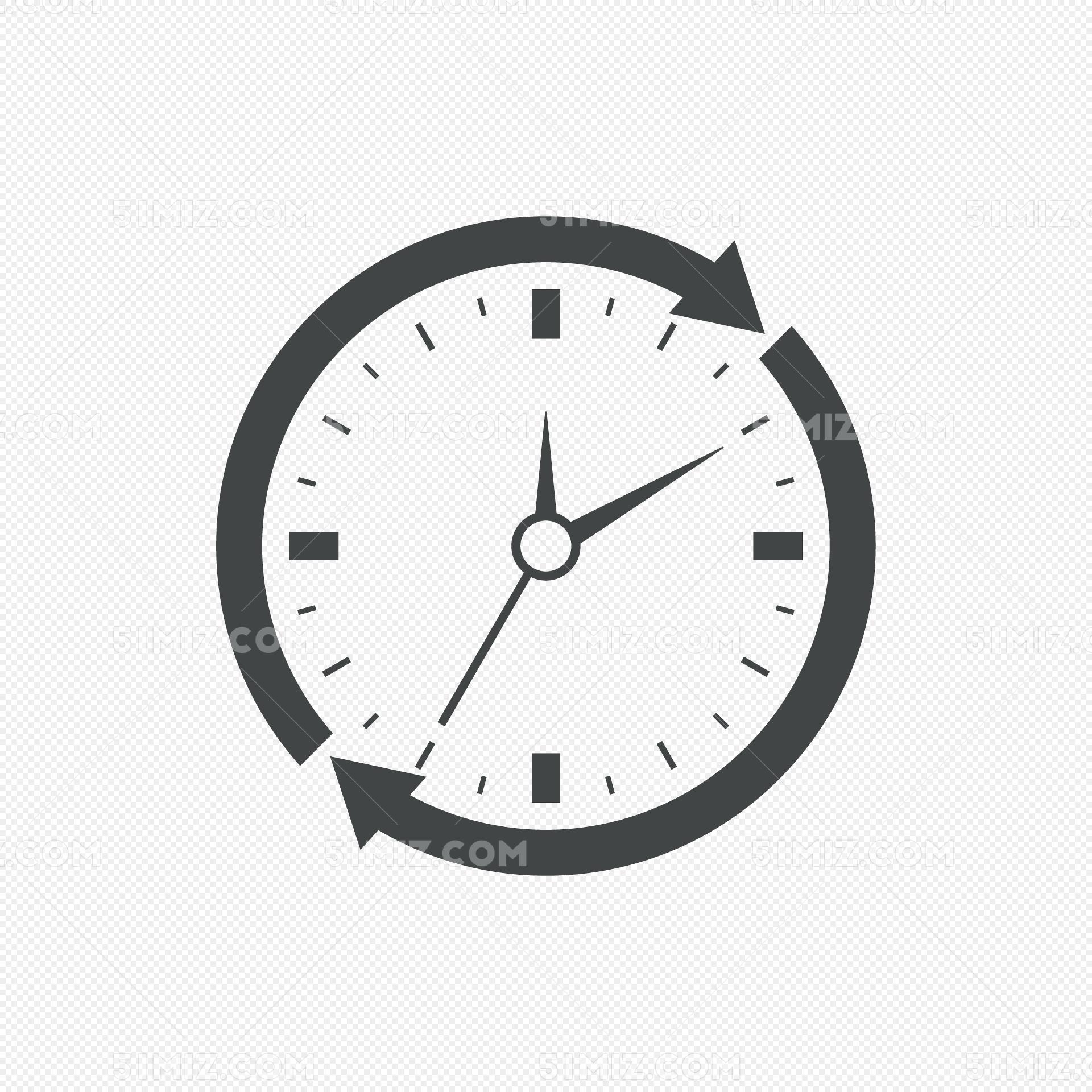 时钟刻度时间图标图片素材免费下载_觅知网