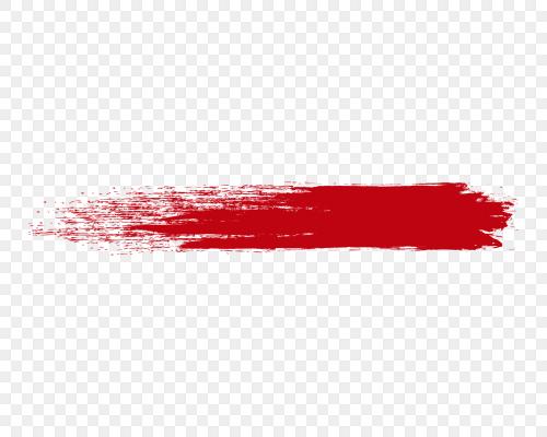 矢量紅色筆刷墨跡圖