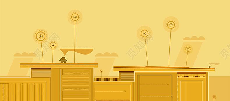 原创非商用授权 下载jpg下载psd 背景素材 卡通家居简约桌子详情页