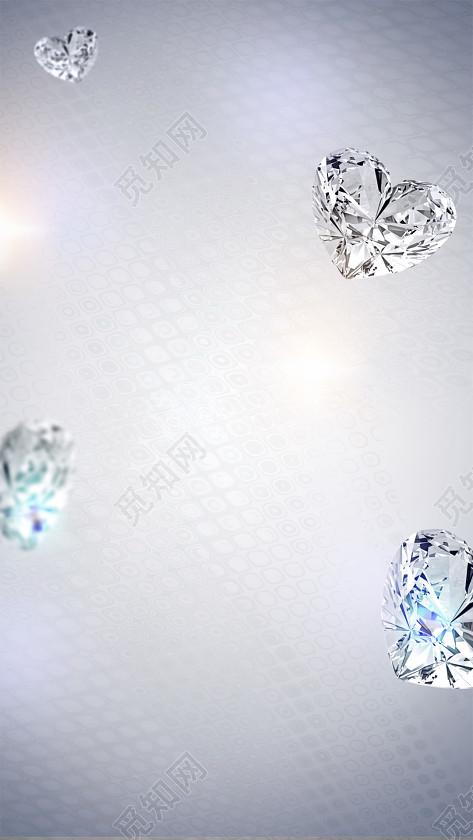 心形钻石闪光浪漫背景素材