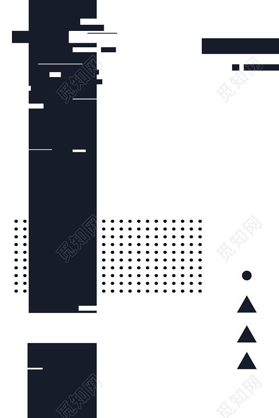 简约黑白几何线条杂志海报背景