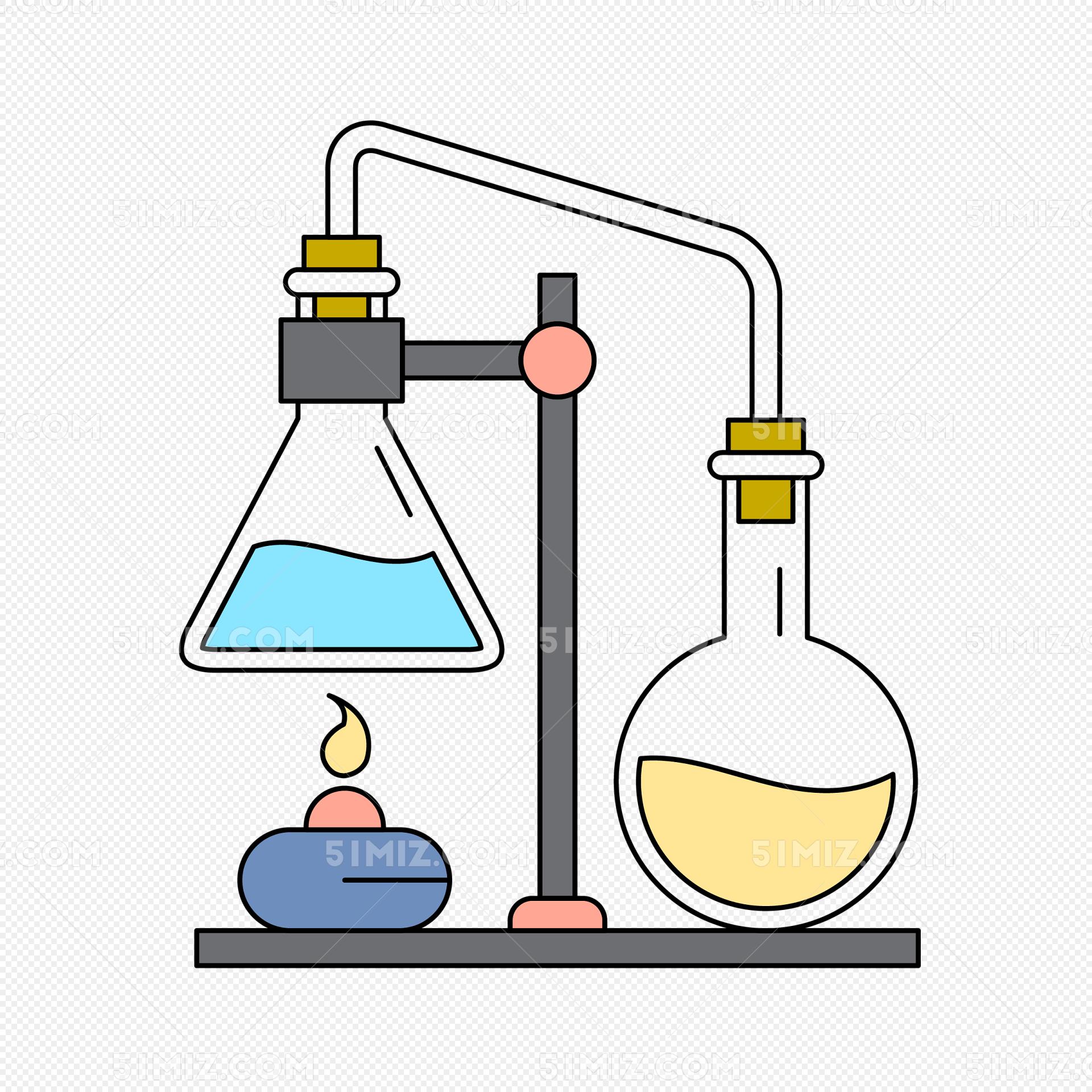 实验器材矢量插画