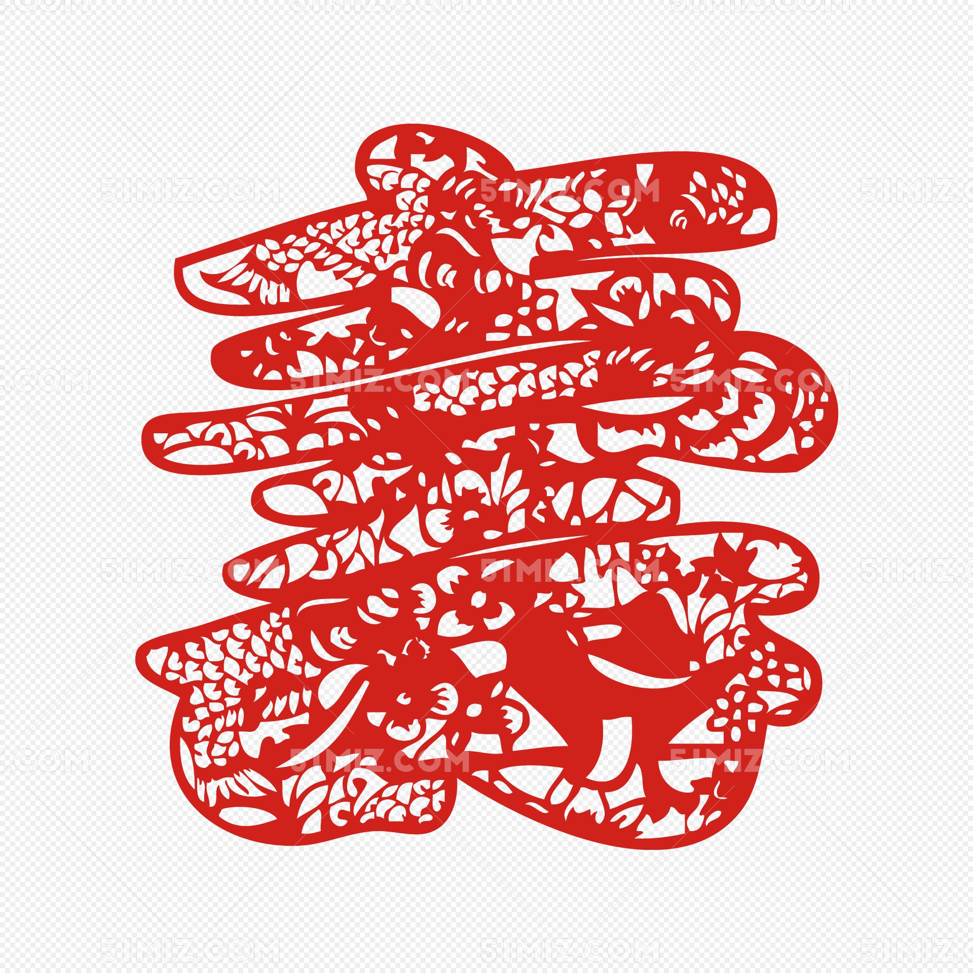 寿字剪纸窗花春节剪纸新年元旦图片素材免费下载 觅知网
