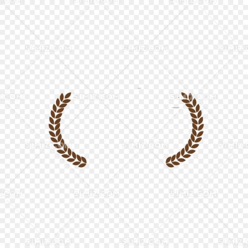 咖色麦穗花纹边框