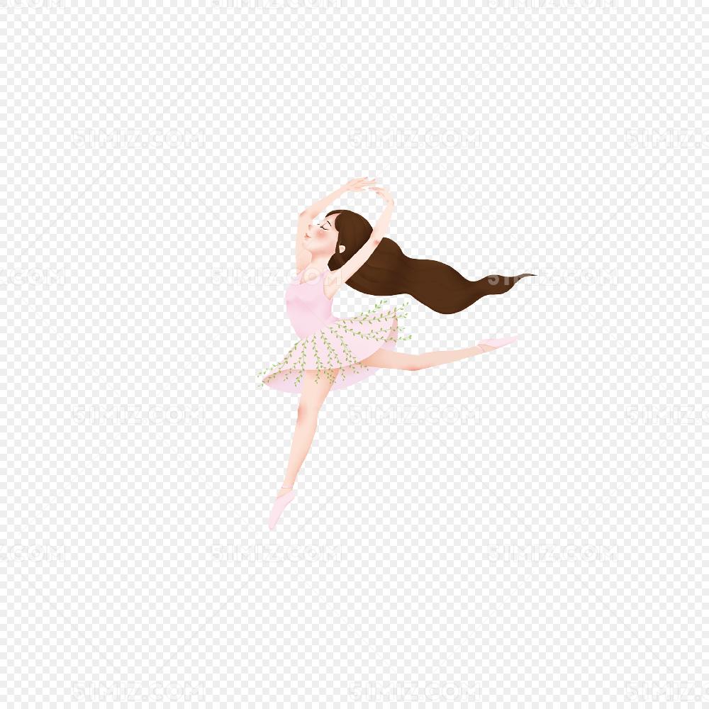 手绘舞蹈女孩图片