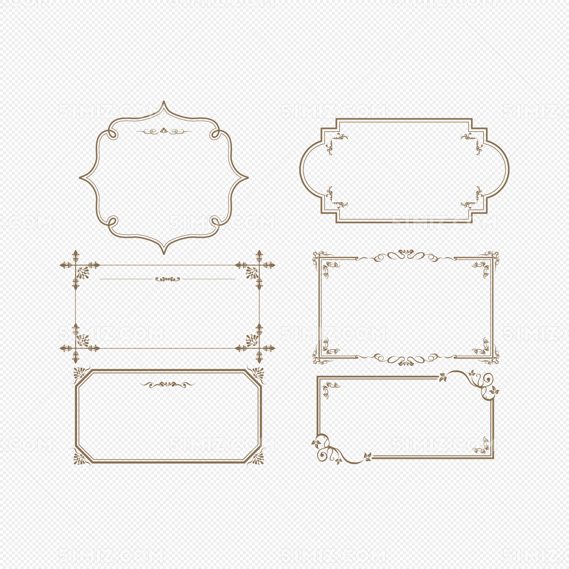 欧式花纹边框素材免费下载_png素材_觅知网