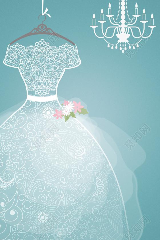 婚紗婚禮簡約手繪海報背景素材