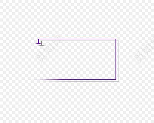 几何线条方块边框
