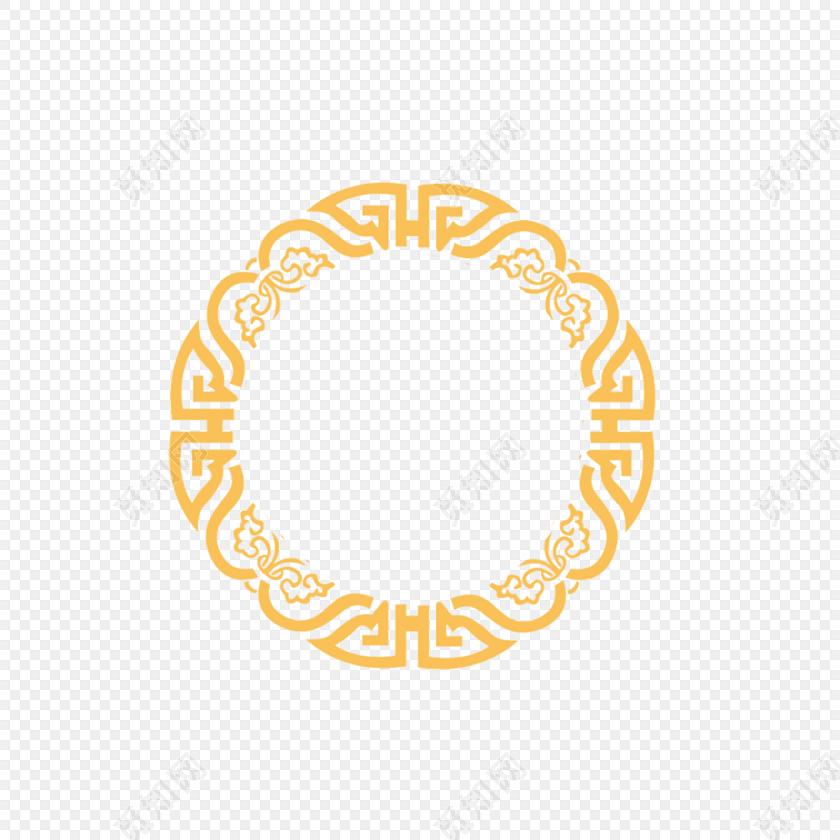 中国风古典花纹圆边框