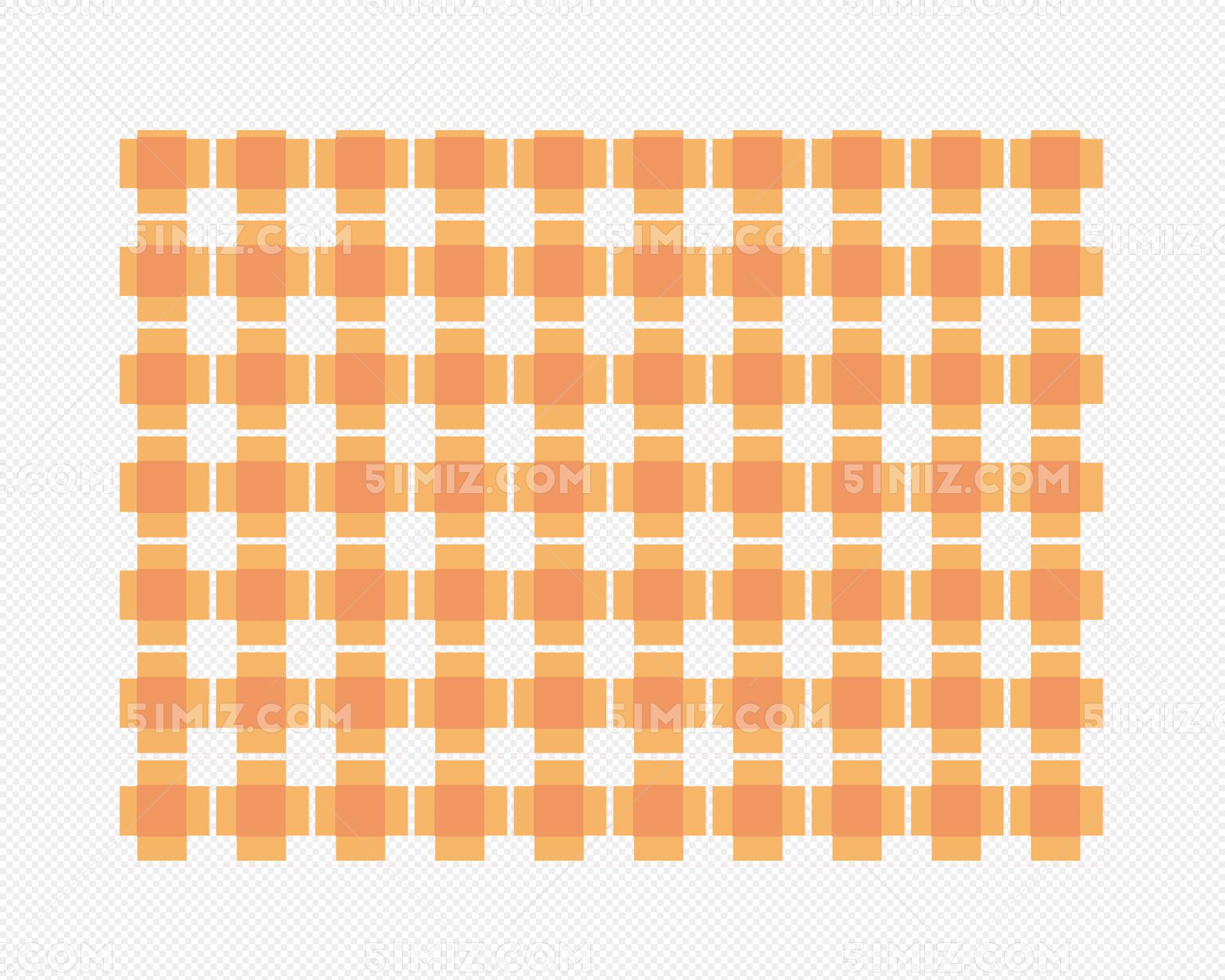 矢量格子花纹