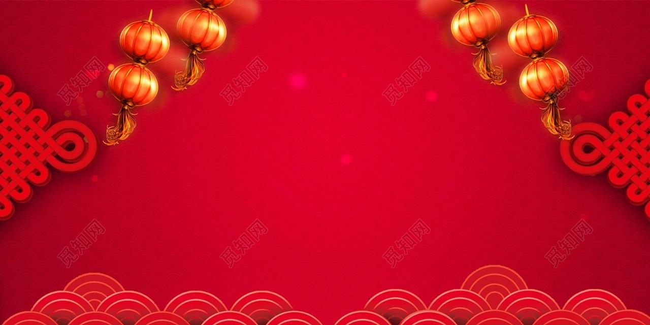 中国结灯笼新年喜庆红色背景喜庆迎战猪年迎战2019背景素材