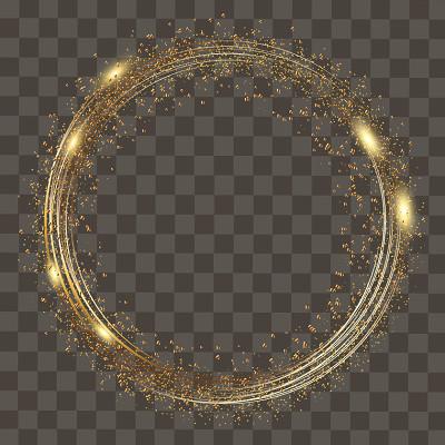 光圈創意光效光效科技感光暈png素材