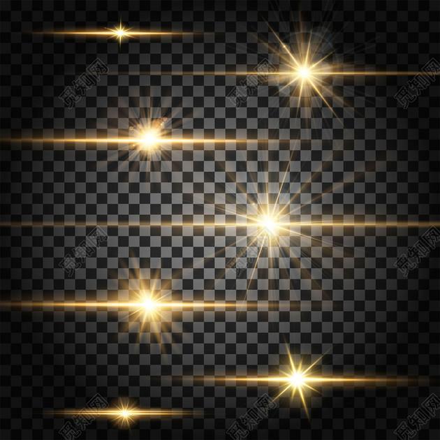 長條狀光效光暈光線夢幻炫酷漸變png素材