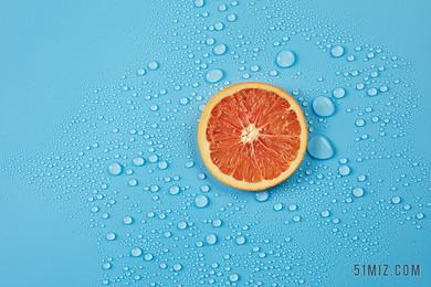小清新水果檸檬背景圖片