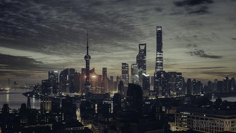 黑色建筑現代高樓大廈城市夜景城市圖片