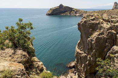 克里米亞 普kapchik 海 藍貝 藍色 夏季 度假 旅游