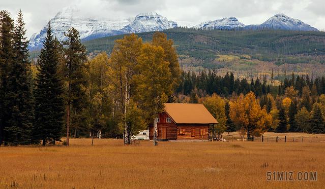 野外自然风景田园风景农庄乡村情怀小木屋唯美背景图片