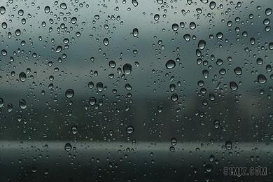 撲簌 非 云 雨滴 一個下雨天 窗口 淋浴 水 玻璃 夏天