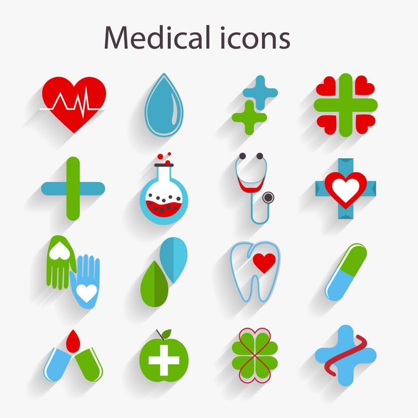16个公益医学ICON图标素材