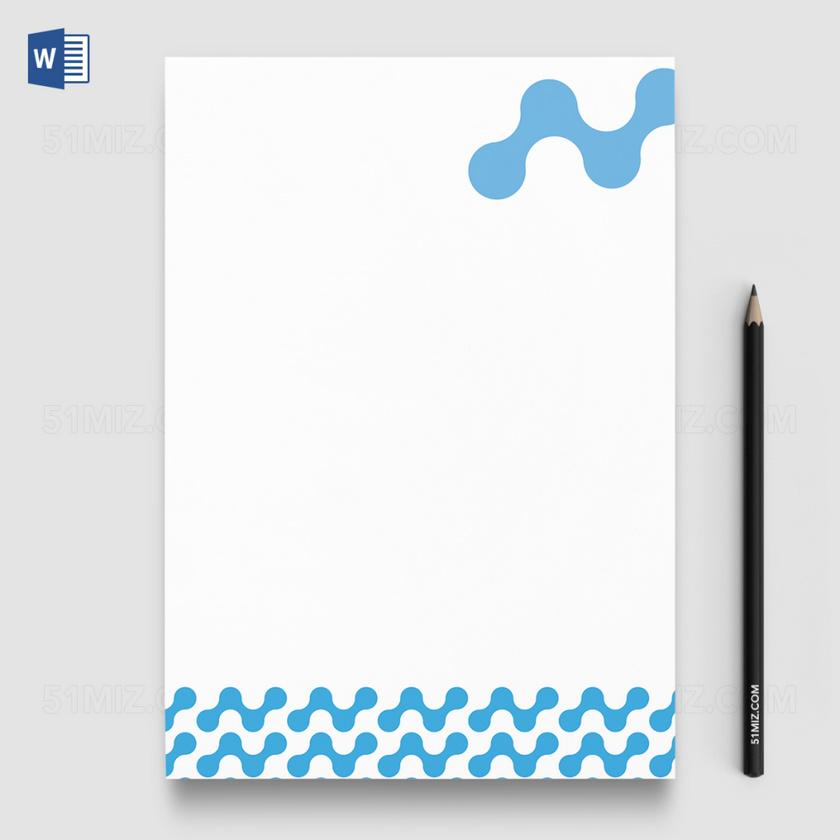 商务风公司企业信纸模板word版ai版1图片