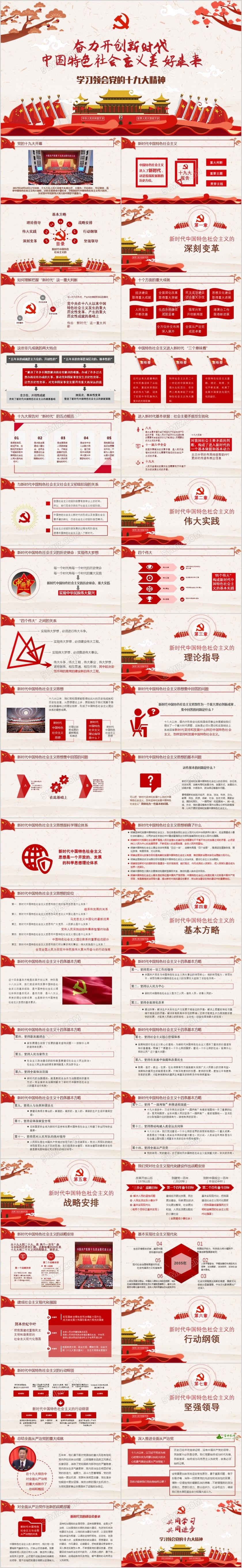 十九大精神解读奋力开创新时代中国社会主义美好未来党课PPT