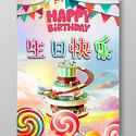 创意时尚儿童卡通可爱生日快乐海报
