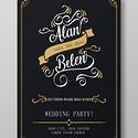 黑色时尚婚礼邀请函婚礼宣传海报