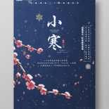 中國二十四節氣農歷小寒海報