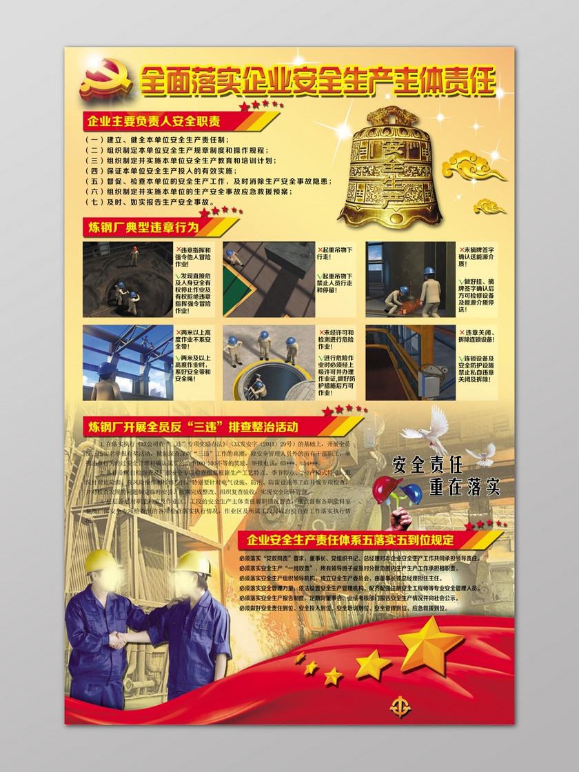 员工安全生产国旗企业炼钢厂主体电脑海报下载-v员工责任外壳的模具设计图片