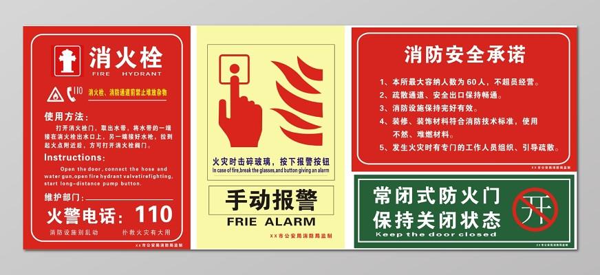 消火栓使用方法海报设计_消火栓使用方法道路标志牌设计规范图片