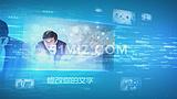 科技商务图文展示片头AE模板