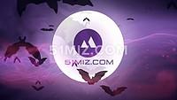 AE片头动画LOGO显示高端大气震撼万圣节鬼怪风格柔和紫
