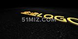 金色闪烁粒子LOGO展示企业片头AE模板