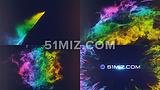 彩色烟雾粒子爆炸LOGO片头动画AECS6