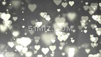 浪漫白色爱心西式婚礼情人节表白视频素材