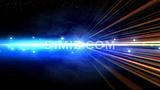 蓝色粒子光束年会元旦春晚开场片头视频素材
