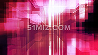 红色动感绚丽音乐空间led背景视频素材