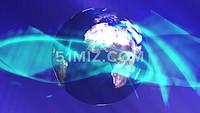 抽象蓝色线条绕地球运动企业宣传片视频素材