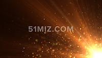 震撼金色粒子光线变化LED背景视频素材