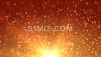 震撼金色太阳粒子光线变化LED背景视频素材