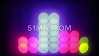 动感迷幻音乐律动光斑LED背景视频素材