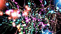 超清震撼彩色粒子阵列视频素材