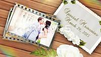 电影胶片婚纱照婚礼ae视频模板下载