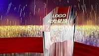 金色粒子企业宣传年会颁奖片头开场AE模板