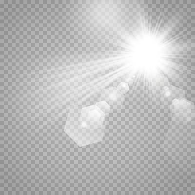 光效明媚晴朗陽光光暈光束太陽光png素材