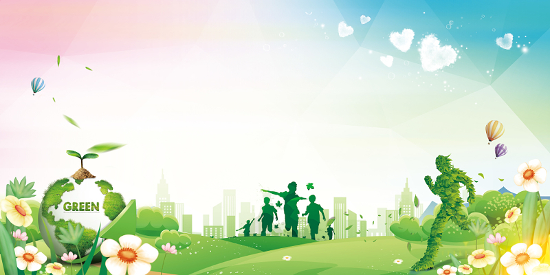 世界環境日保護環境保護地球宣傳展板背景