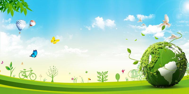 全國節能宣傳周世界環境日環保清新綠色地球藍天綠樹海報背景