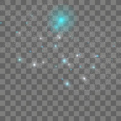 藍色炫光光效創意圓點星空免摳圖
