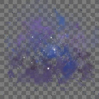 紫色星光創意星空免摳圖